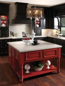 Well passionate red kitchen designs that you must see 25
