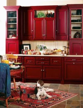 Well passionate red kitchen designs that you must see 30