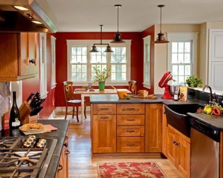 Well passionate red kitchen designs that you must see 31