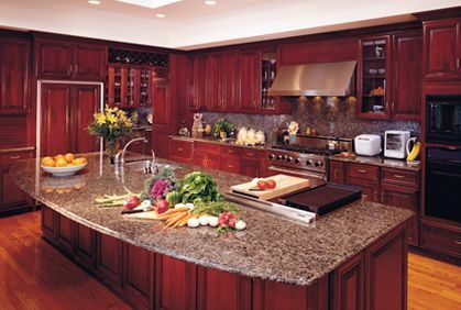 Well passionate red kitchen designs that you must see 40