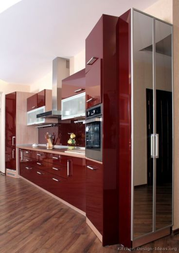 Well passionate red kitchen designs that you must see 41