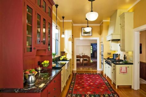 Well passionate red kitchen designs that you must see 45