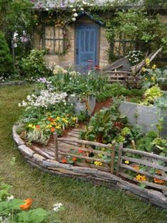 Amazing rustic garden decor ideas 10