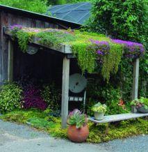Amazing rustic garden decor ideas 25