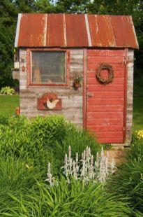 Amazing rustic garden decor ideas 26