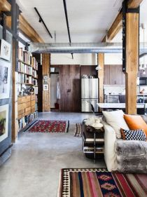 Awesome rustic industrial living room design and decor ideas 17