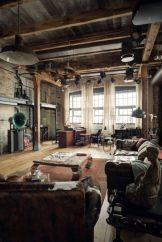 Awesome rustic industrial living room design and decor ideas 18