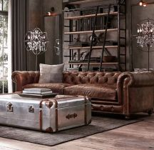Awesome rustic industrial living room design and decor ideas 33