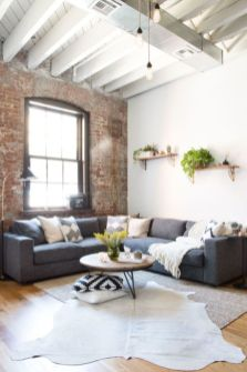 Awesome rustic industrial living room design and decor ideas 41