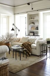 Brilliant bohemian farmhouse decorating ideas for your living room 11