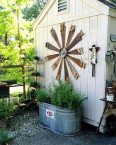 Brilliant garden junk repurposed ideas to create artistic landscaping 38