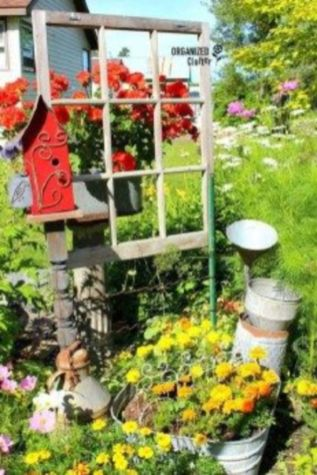 Brilliant garden junk repurposed ideas to create artistic landscaping 45