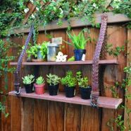 Brilliant garden junk repurposed ideas to create artistic landscaping 46