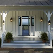 Most stylish farmhouse front door design ideas 12