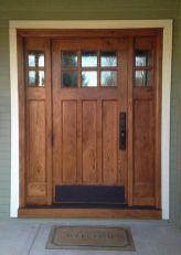 Most stylish farmhouse front door design ideas 34