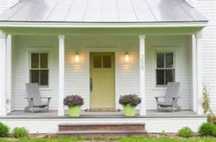 Most stylish farmhouse front door design ideas 38