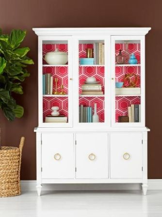 Most unique china cabinet makeover ideas 25