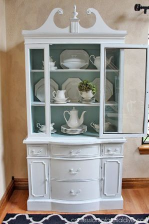 Most unique china cabinet makeover ideas 26