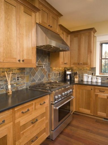 Wonderful wood kitchen design ideas for cozy kitchen inspiration 19