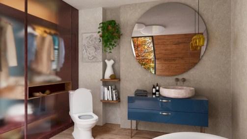 Adorable modern rustic bathroom ideas 15