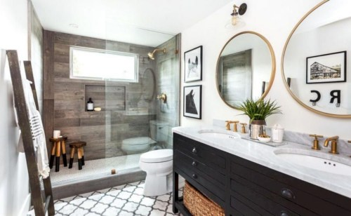 Adorable modern rustic bathroom ideas 25