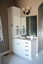 Affordable modern small bathroom vanities ideas 07