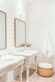 Affordable modern small bathroom vanities ideas 26