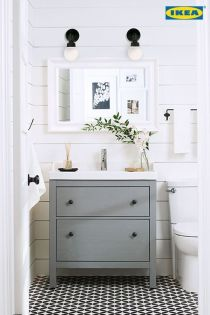 Affordable modern small bathroom vanities ideas 37