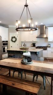 Amazing farmhouse kitchen decor ideas for inspiration 07
