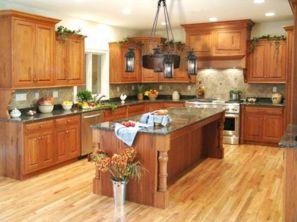 Amazing oak cabinet kitchen makeover ideas 17