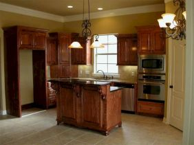 Amazing oak cabinet kitchen makeover ideas 40