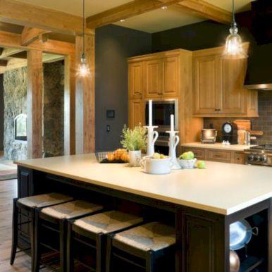 Amazing oak cabinet kitchen makeover ideas 41