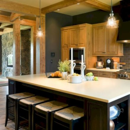 Amazing oak cabinet kitchen makeover ideas 41