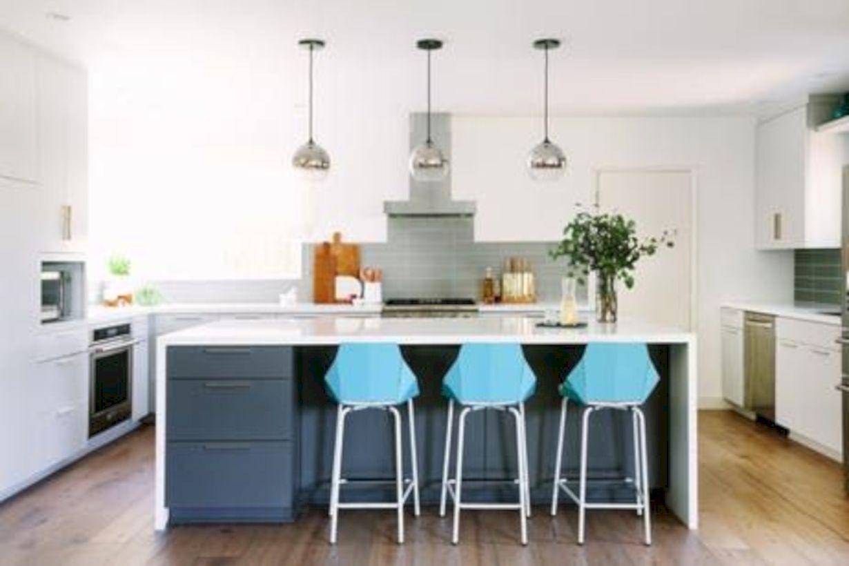 Amazing oak cabinet kitchen makeover ideas 42