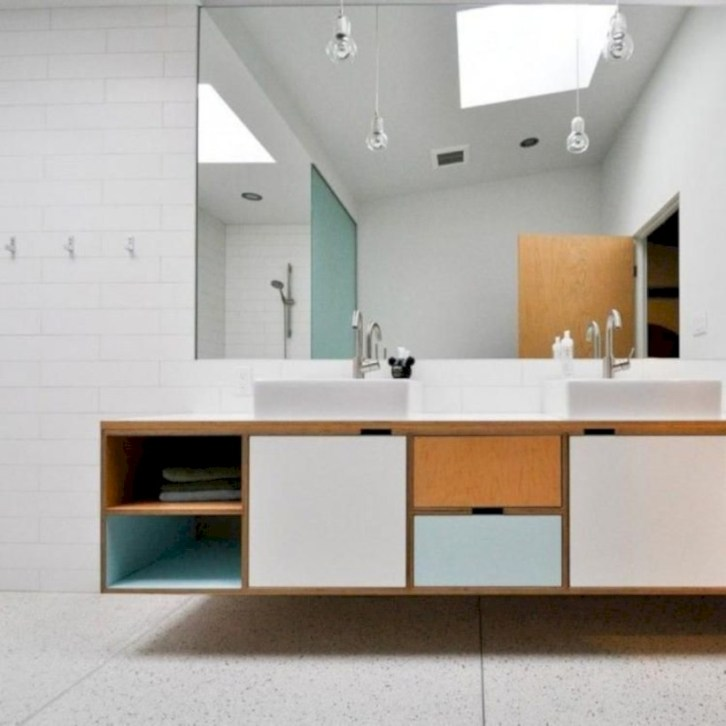 Beautiful mid century modern bathroom ideas 43