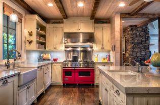 Comfy antique white kitchen cabinets ideas 05