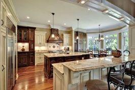 Comfy antique white kitchen cabinets ideas 10