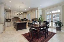 Comfy antique white kitchen cabinets ideas 14