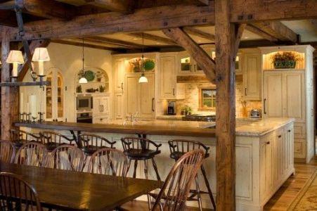 Comfy antique white kitchen cabinets ideas 30