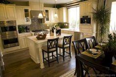 Comfy antique white kitchen cabinets ideas 42