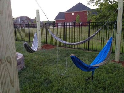 Comfy backyard hammock decor ideas 30