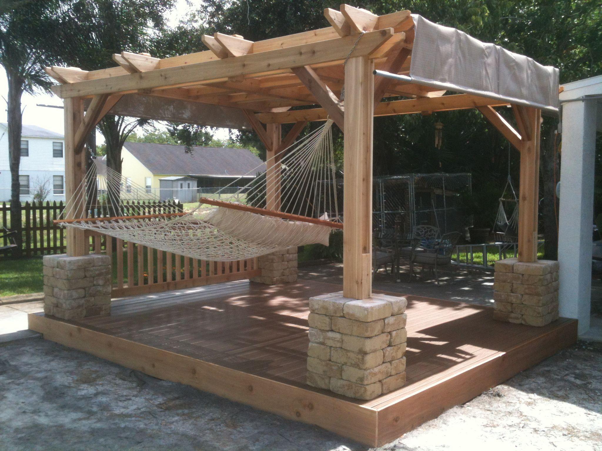 Comfy backyard hammock decor ideas 40
