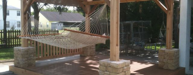 Comfy backyard hammock decor ideas 40