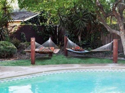 Comfy backyard hammock decor ideas 42