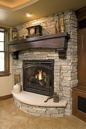 Cute rustic fireplace design ideas 07