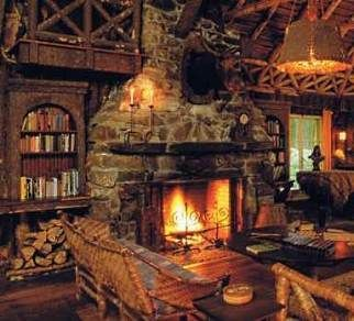 Cute rustic fireplace design ideas 08