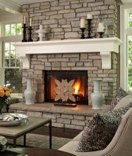 Cute rustic fireplace design ideas 14