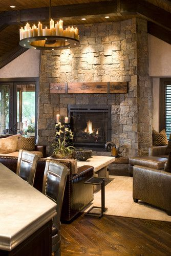 Cute rustic fireplace design ideas 20