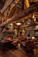 Cute rustic fireplace design ideas 33