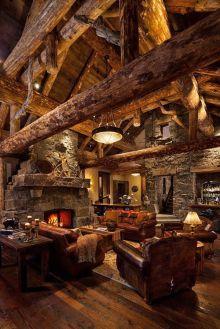 Cute rustic fireplace design ideas 33